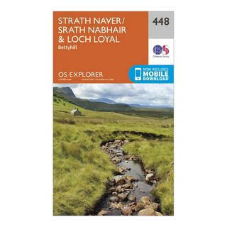 Explorer 448 Strath Naver & Loch Loyal Map With Digital Version