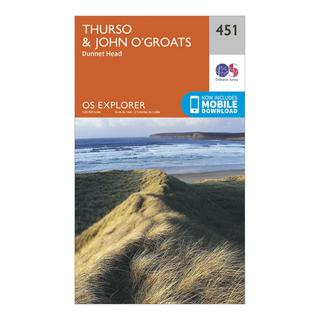 Explorer 451 Thurso & John o'Groats Map With Digital Version