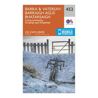 Explorer 452 Barra & Vatersay Map With Digital Version