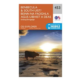 Explorer 453 Benbecula & South Uist Map With Digital Version