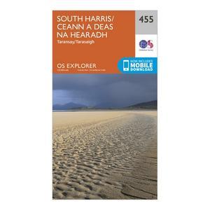 ORDNANCE SURVEY Explorer 455 South Harris Map With Digital Version