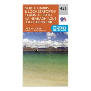 ORDNANCE SURVEY Explorer 456 North Harris & Loch Seaforth Map With Digital Version