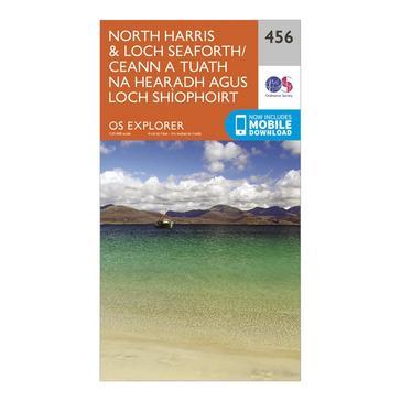 Orange Ordnance Survey Explorer 456 North Harris & Loch Seaforth Map With Digital Version