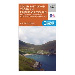 ORDNANCE SURVEY Explorer 457 South East Lewis Map With Digital Version