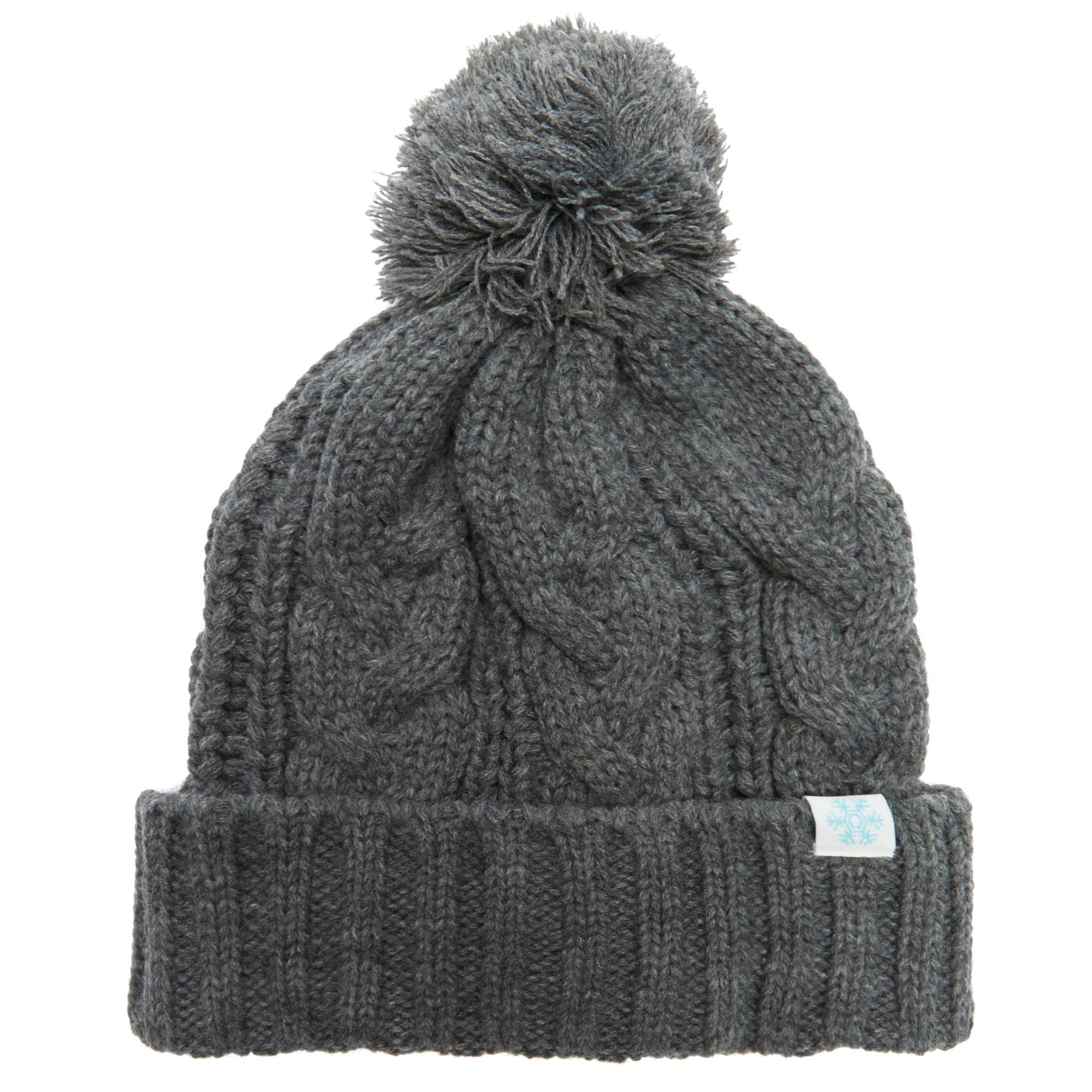 ALPINE Men's Cable Knit Pom Pom Hat