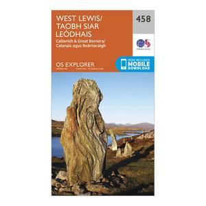 ORDNANCE SURVEY Explorer 458 West Lewis Map With Digital Version