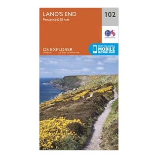 Explorer 102 Land's End Map With Digital Version