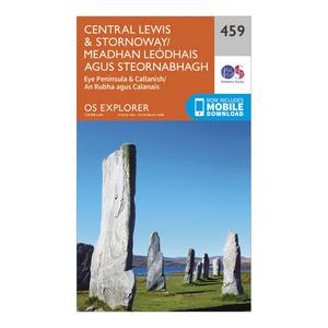 ORDNANCE SURVEY Explorer 459 Central Lewis & Stornoway Map With Digital Version
