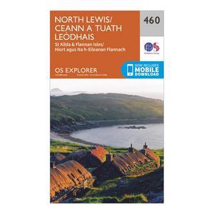 ORDNANCE SURVEY Explorer 460 North Lewis Map With Digital Version