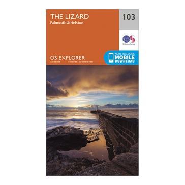 Orange Ordnance Survey Explorer 103 The Lizard Map With Digital Version