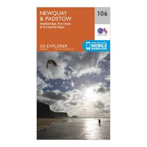 ORDNANCE SURVEY Explorer 106 Newquay & Padstow Map With Digital Version