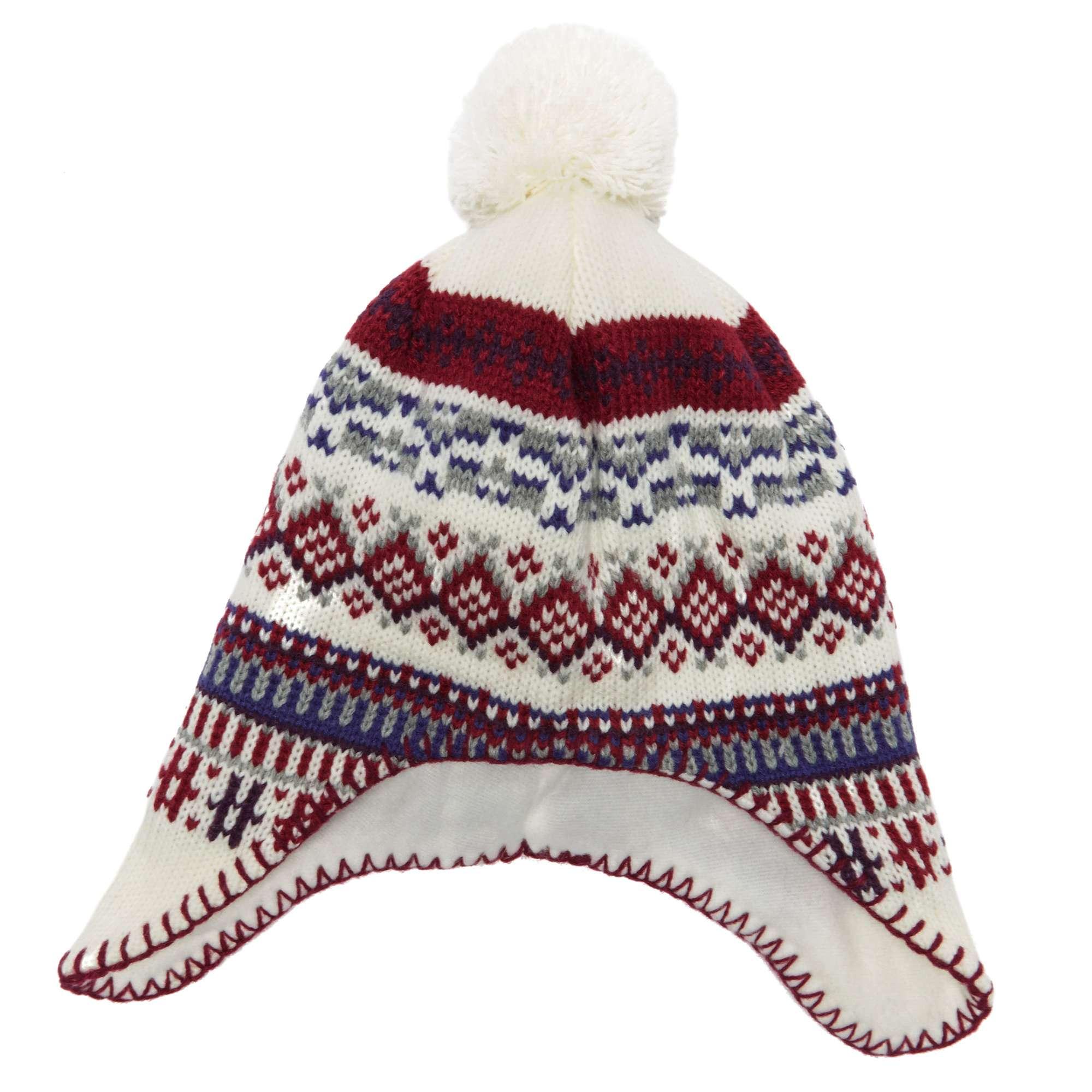 ALPINE Girls' Jacquard Ear Flap Hat