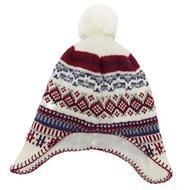 Girls' Jacquard Ear Flap Hat