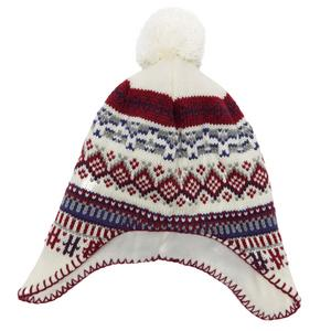 ALPINE Girls' Jacquard Ear Flap Hat