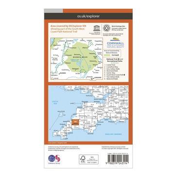 Orange Ordnance Survey Explorer 109 Bodmin Moor Map With Digital Version