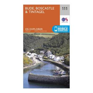 ORDNANCE SURVEY Explorer 111 Bude, Boscastle & Tintagel Map With Digital Version