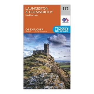 Explorer 112 Launceston & Holsworthy Map With Digital Version