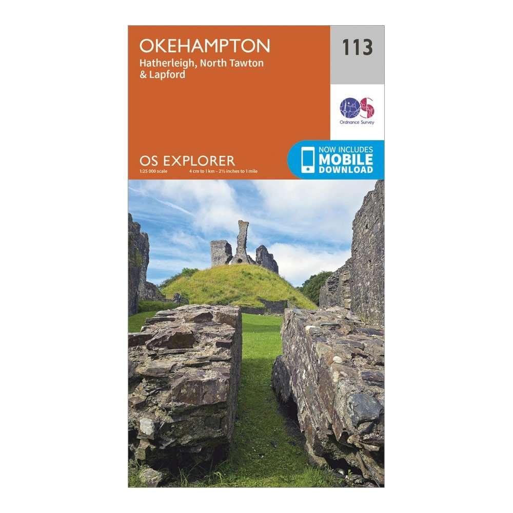 ORDNANCE SURVEY Explorer 113 Okehampton Map With Digital Version