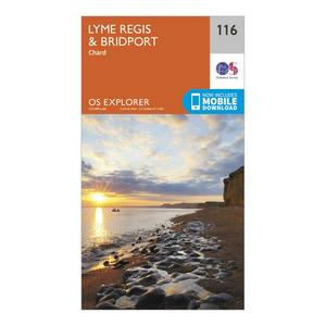 ORDNANCE SURVEY Explorer 116 Lyme Regis & Bridport Map With Digital Version