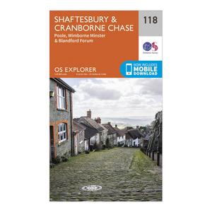ORDNANCE SURVEY Explorer 118 Shaftesbury & Cranborne Chase Map With Digital Version