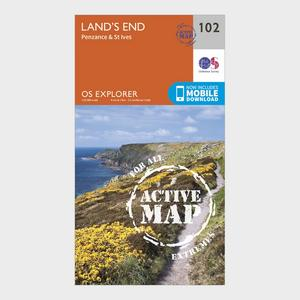 ORDNANCE SURVEY Explorer Active 102 Land's End Map With Digital Version