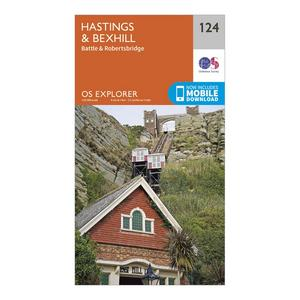 ORDNANCE SURVEY Explorer 124 Hastings & Bexhill Map With Digital Version