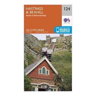 Explorer 124 Hastings & Bexhill Map With Digital Version