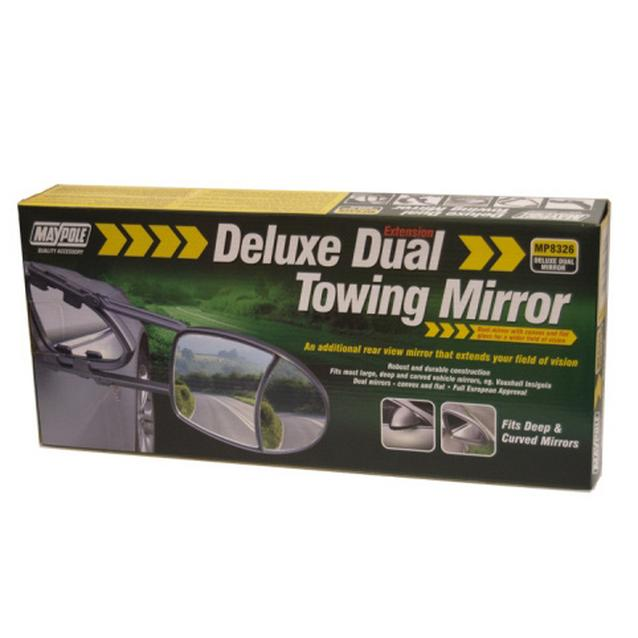 Maypole Deluxe Dual Towing Mirror