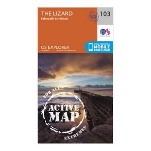ORDNANCE SURVEY Explorer Active 103 The Lizard Map With Digital Version