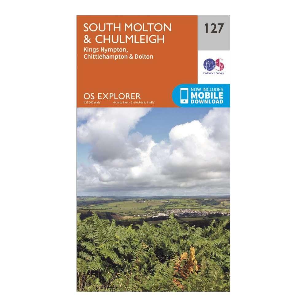 ORDNANCE SURVEY Explorer 127 South Molton & Chulmleigh Map With Digital Version