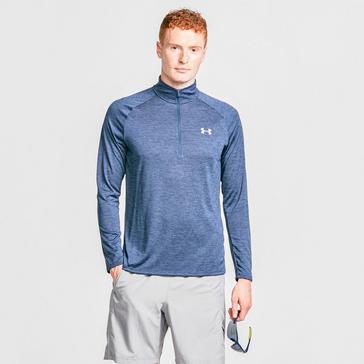 Blue Under Armour Men's UA Tech™ Zip Long Sleeve Tee