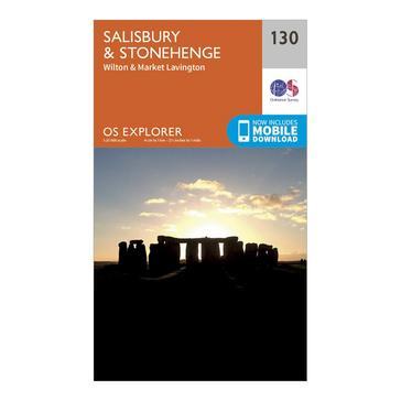 Orange Ordnance Survey Explorer 130 Salisbury & Stonehenge Map With Digital Version