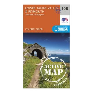 Explorer Active 108 Lower Tamar Valley & Plymouth Map With Digital Version