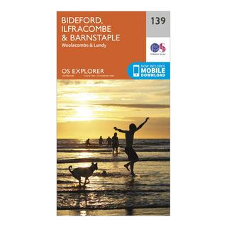 Explorer 139 Bideford, Ilfracombe & Barnstaple Map With Digital Version