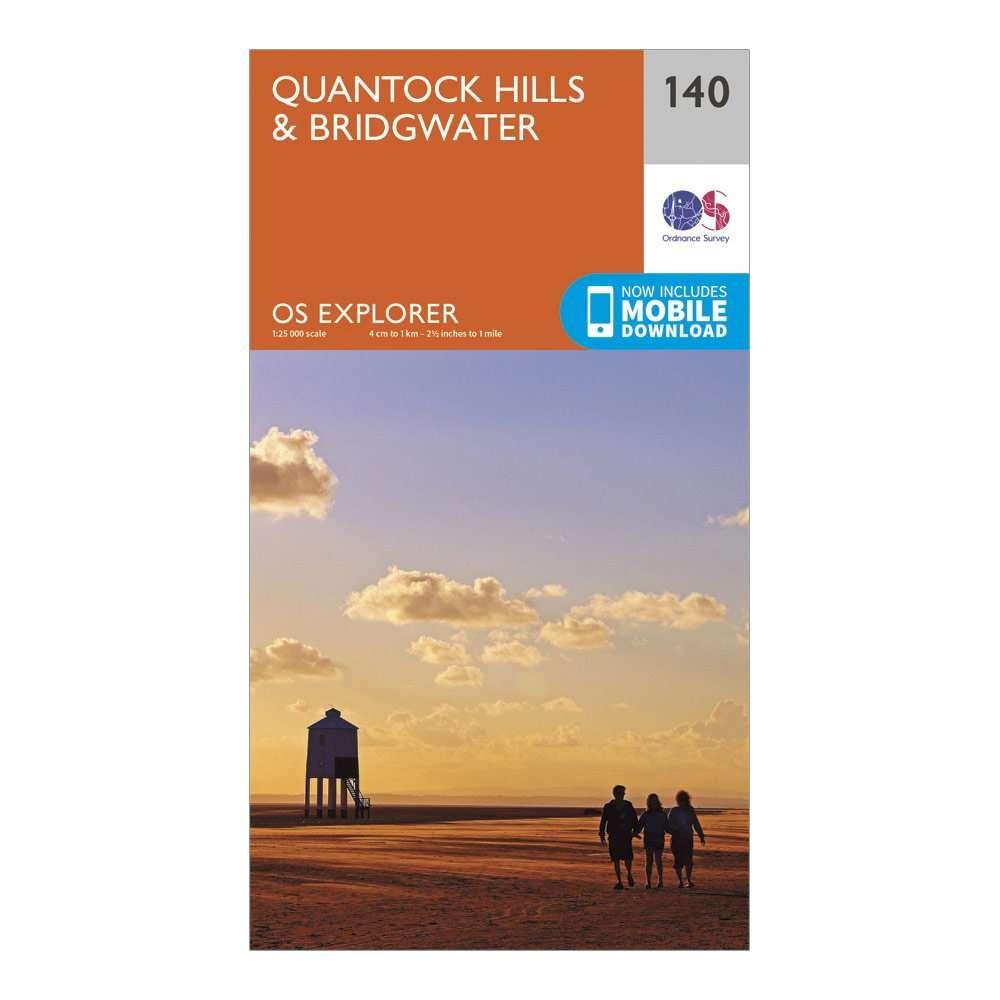 ORDNANCE SURVEY Explorer 140 Quantock Hills & Bridgwater Map With Digital Version