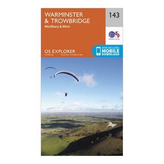 Explorer 143 Warminster & Trowbridge Map With Digital Version