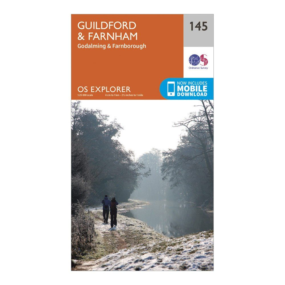ORDNANCE SURVEY Explorer 145 Guildford & Farnham Map With Digital Version