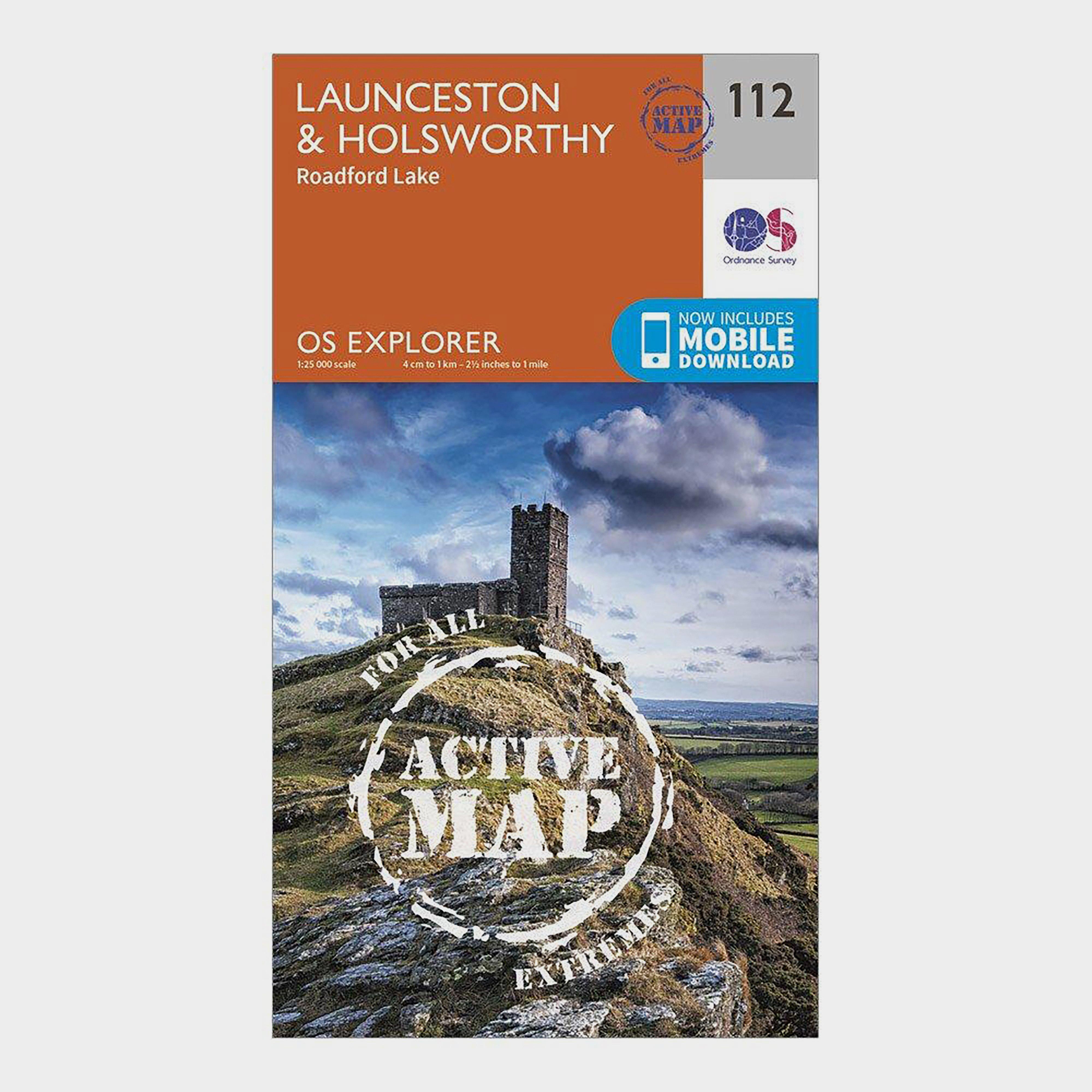 Image of Ordnance Survey Explorer Active 112 Launceston & Holsworthy Map With Digital Version - D/D, D/D
