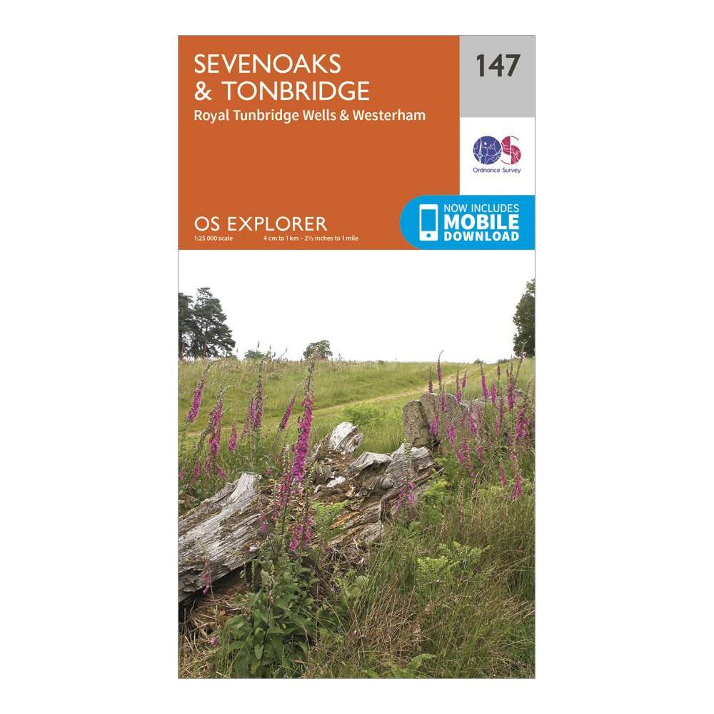 ORDNANCE SURVEY Explorer 147 Sevenoaks & Tonbridge Map With Digital Version