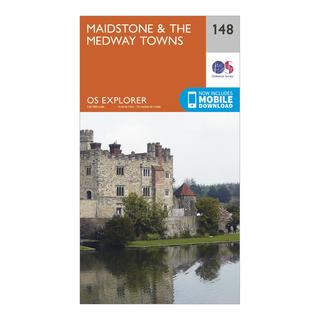 Explorer 148 Maidstone & The Medway Towns Map With Digital Version