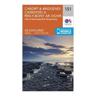 Explorer 151 Cardiff & Bridgend Map With Digital Version