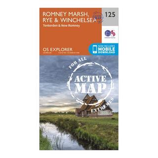 Explorer Active 125 Romneys Marsh, Rye & Winchelsea Map With Digital Version