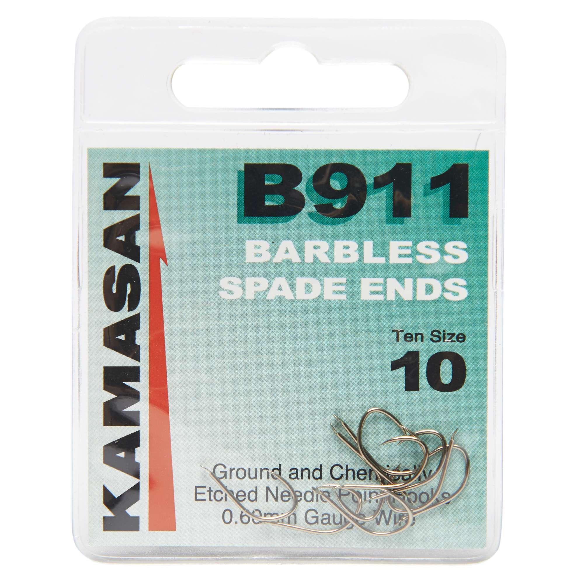 KAMASAN B911 Extra Strong Spade Fishing Hooks - Size 10