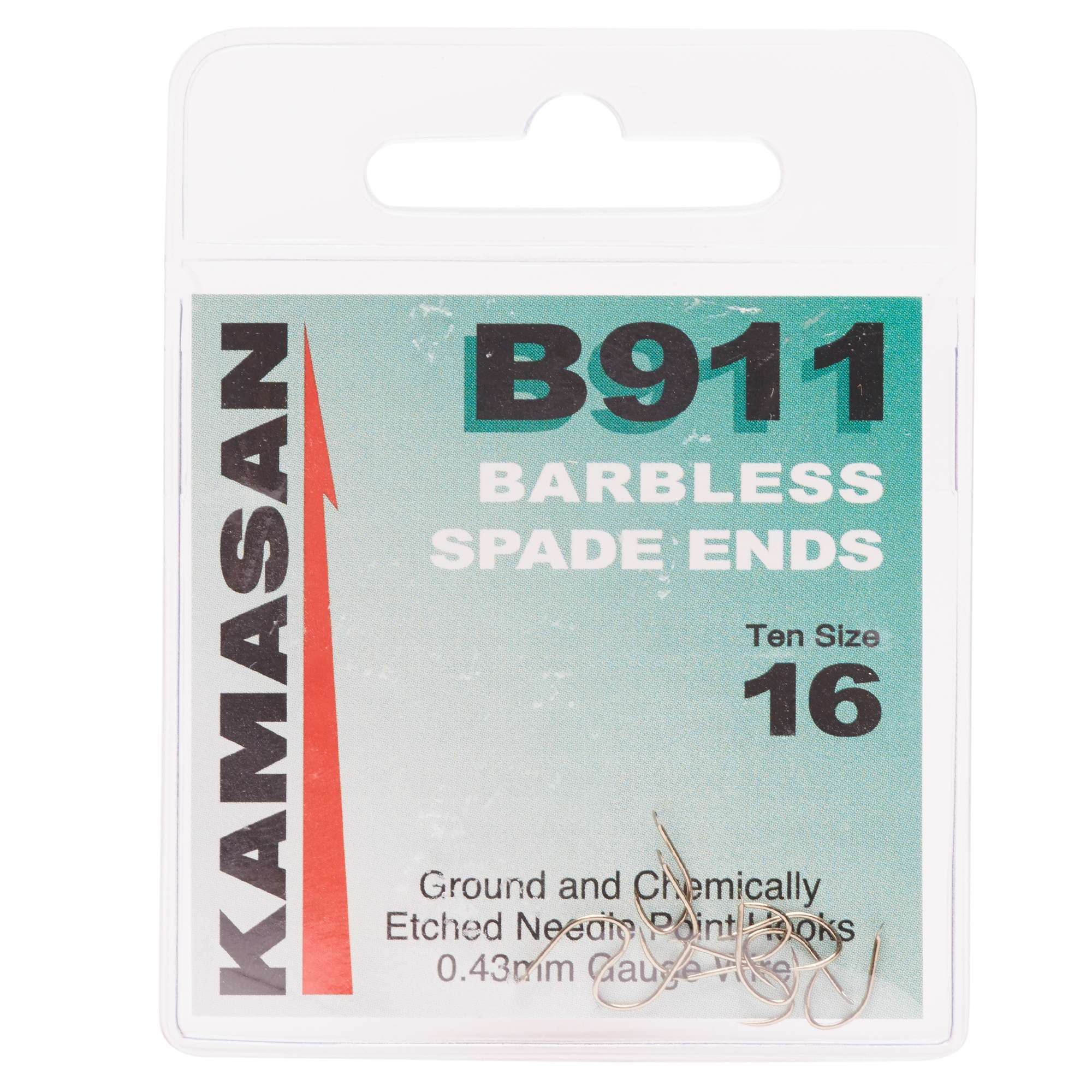 KAMASAN B911 Extra Strong Eyed Fishing Hooks - Size 16
