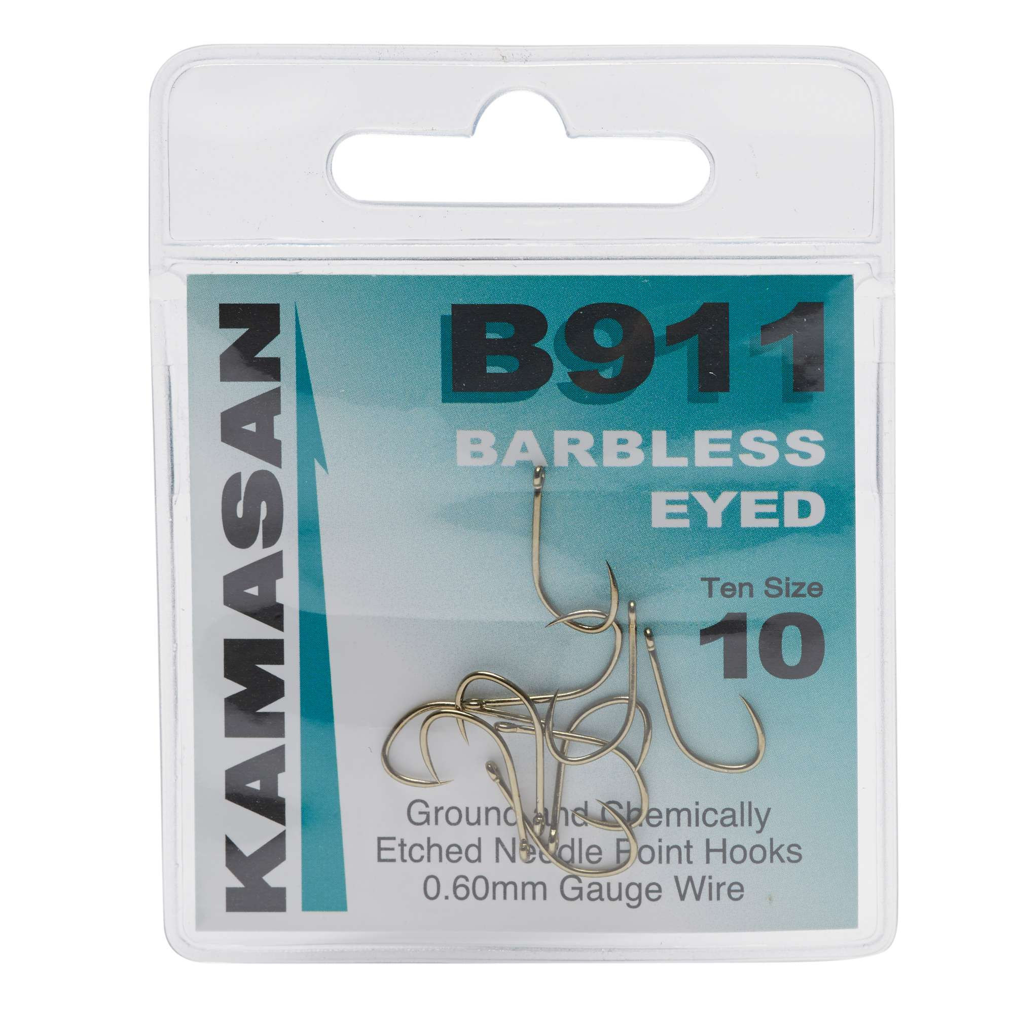 KAMASAN B911 Extra Strong Eyed Fishing Hooks - Size 10