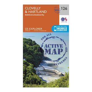 Explorer Active 126 Clovelly & Hartland Map With Digital Version