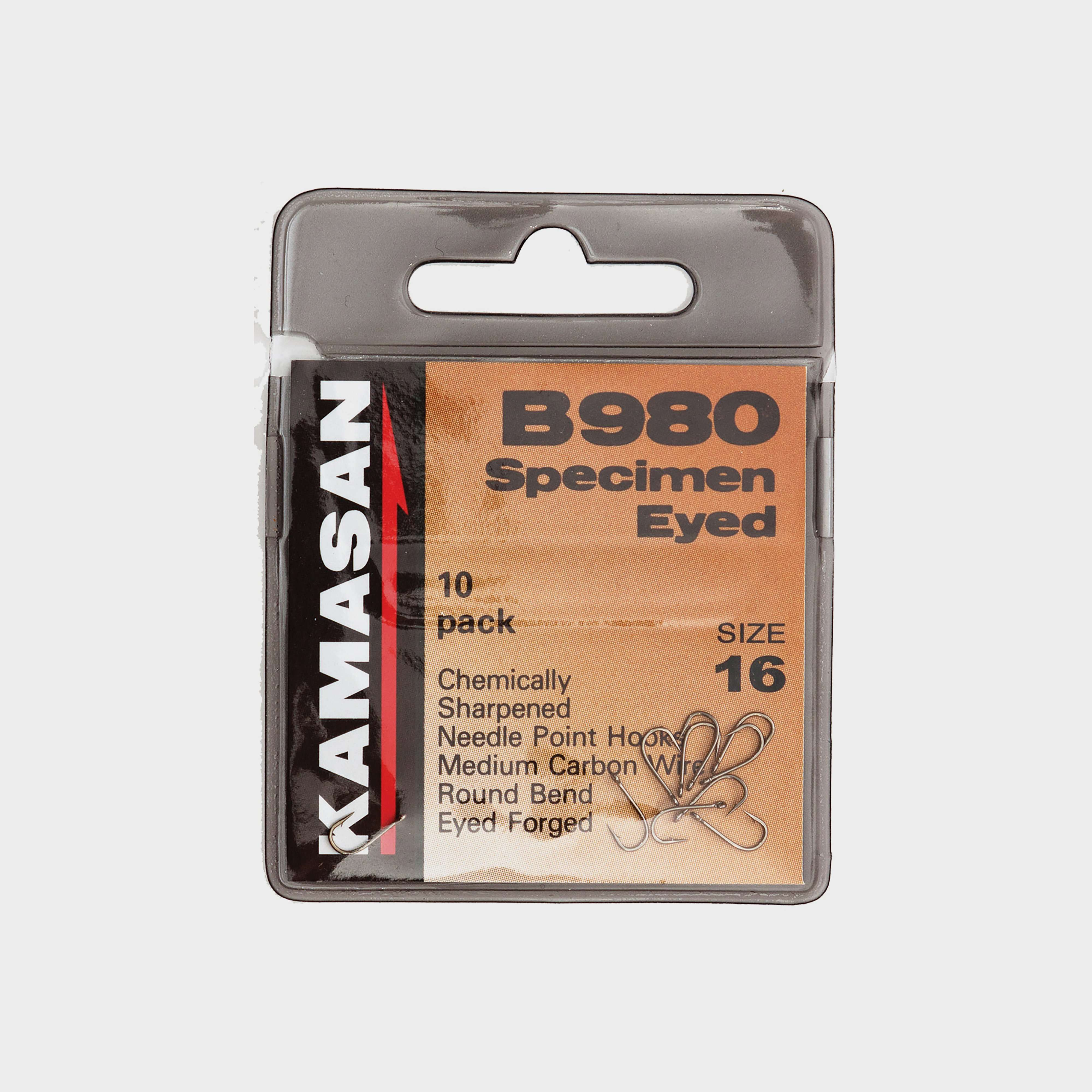 KAMASAN B980 Barbed Specimen Eyed Hooks - Size 16