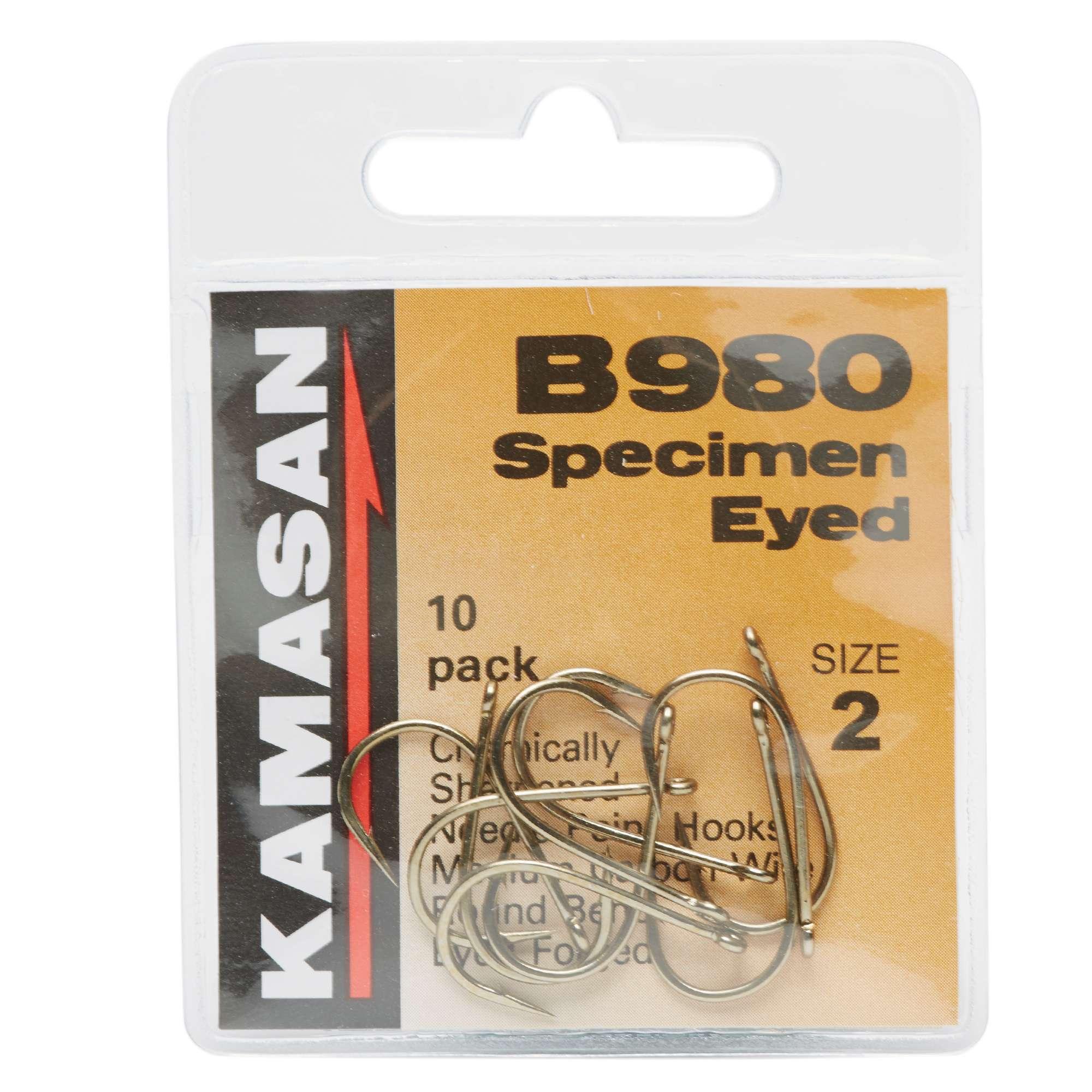 KAMASAN B980 Barbed Specimen Eyed Hooks - Size 2