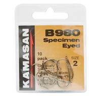 B980 Barbed Specimen Eyed Hooks - Size 2