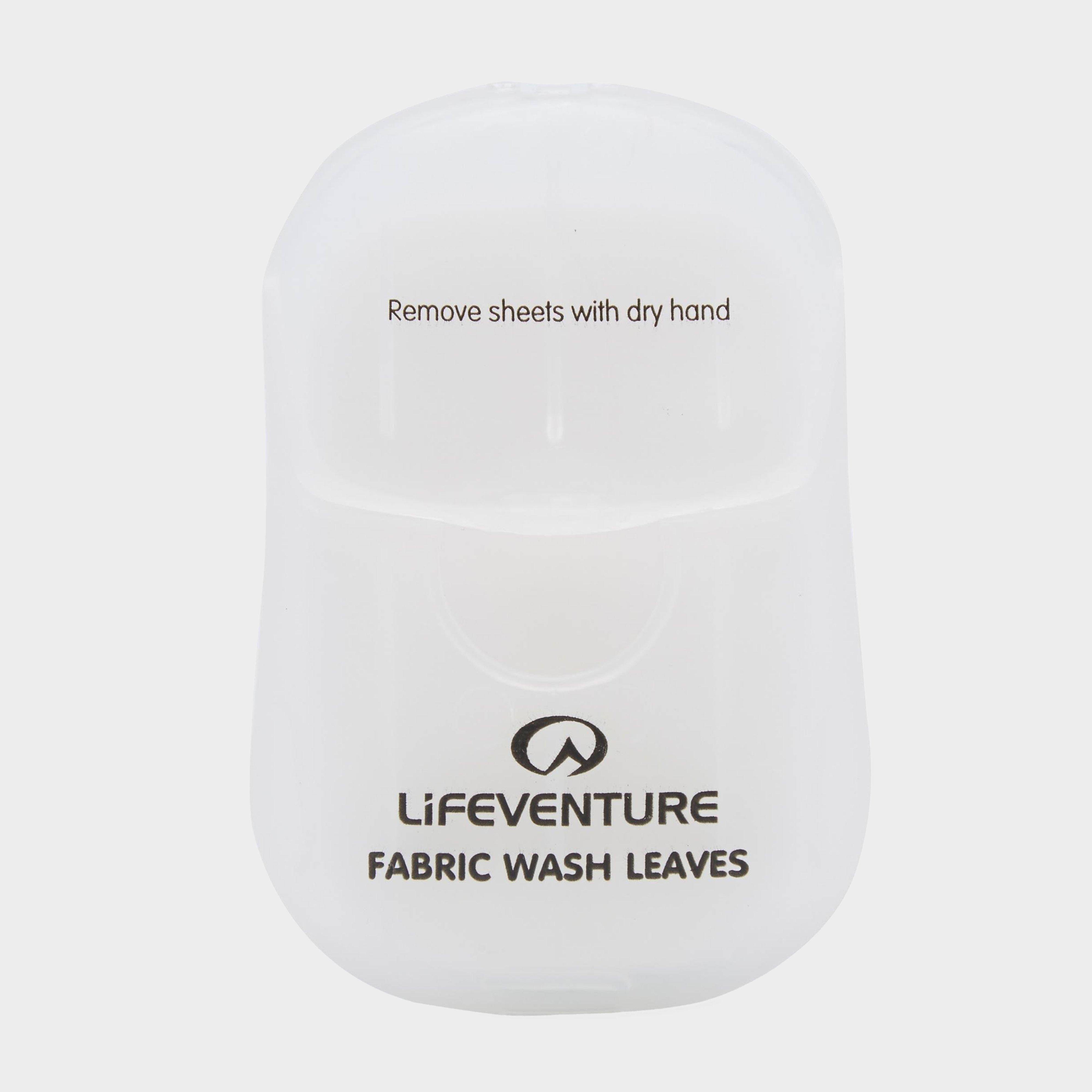 Lifeventure Lifeventure Fabric Wash Leaves - White, White